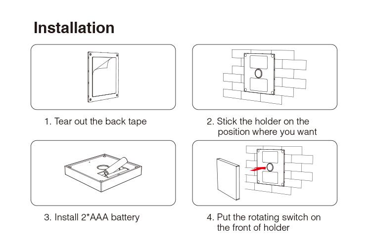 Mi-Light black 4-zone RGB+CCT panel remote B4-B easy installation