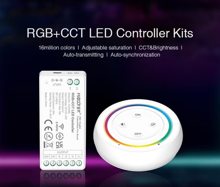 RGBCCT 6-pin LED strip controller set wit a remote