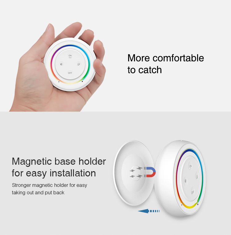 small round remote control for LED lights