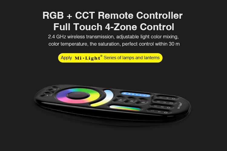 Newest RGBCCT black remote control from Mi-Light