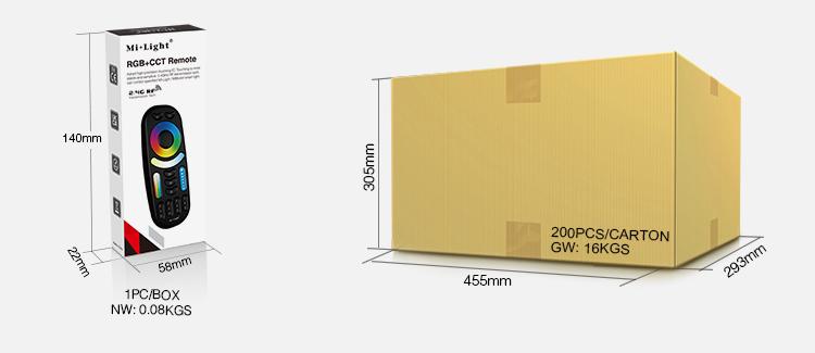 buy Mi-Light products in UK wholesale MiBoxer 4-zone RGB+CCT remote control FUT092-B