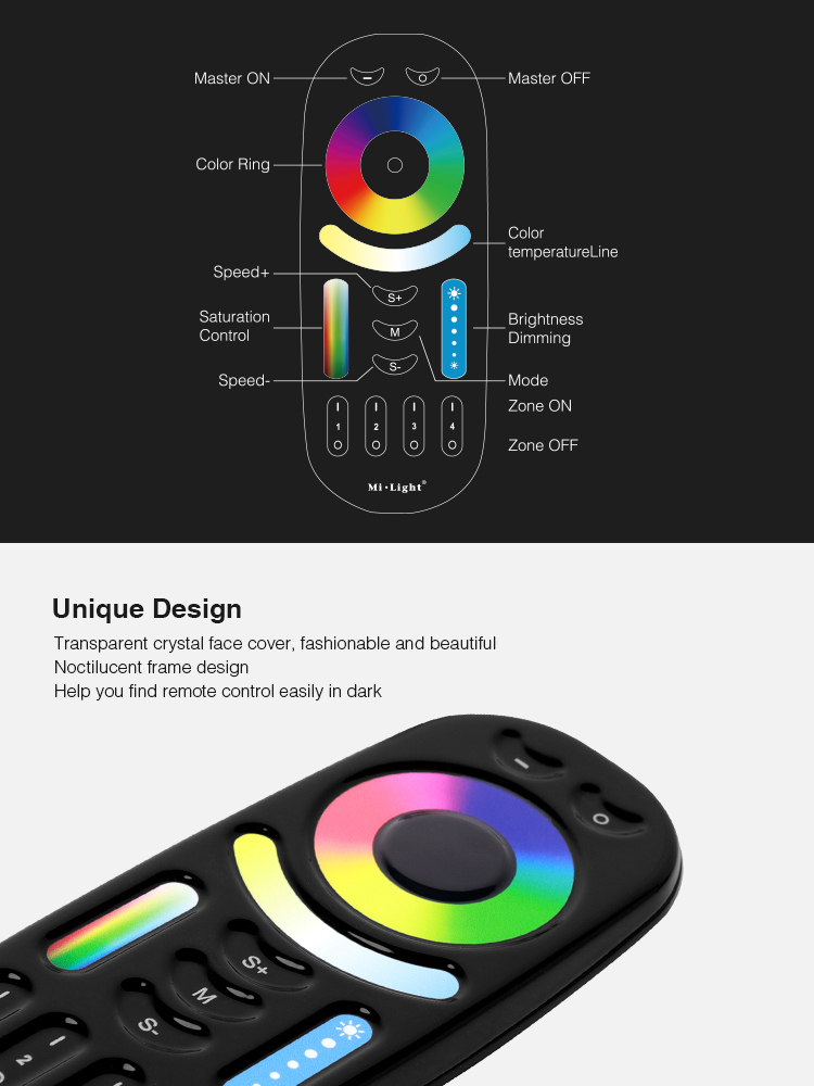 great functionality and beautiful design black remote