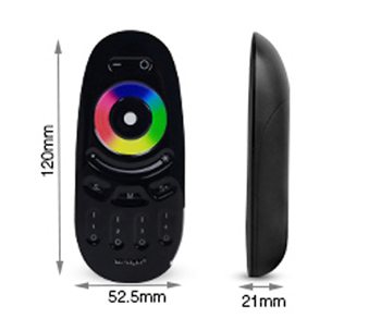 MiBoxer 4-zone touch RF RGBW remote control FUT096-B product size length and width