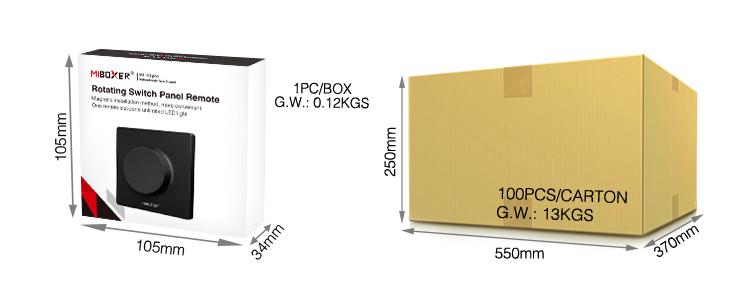 MiBoxer black rotating switch panel remote K1-B buy online in United Kingdom