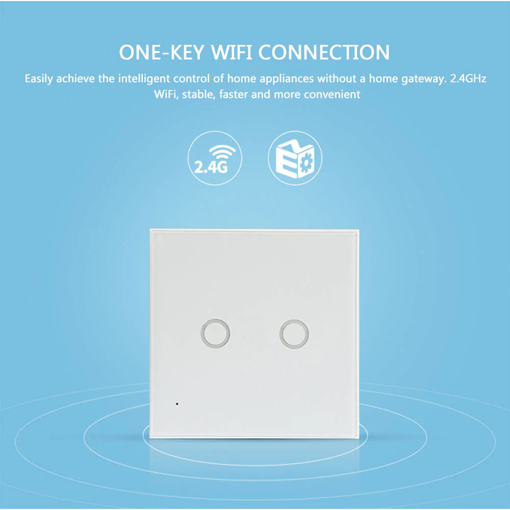 NEO WiFi smart light switch 2 gangs WiFi connection intelligent control home appliances