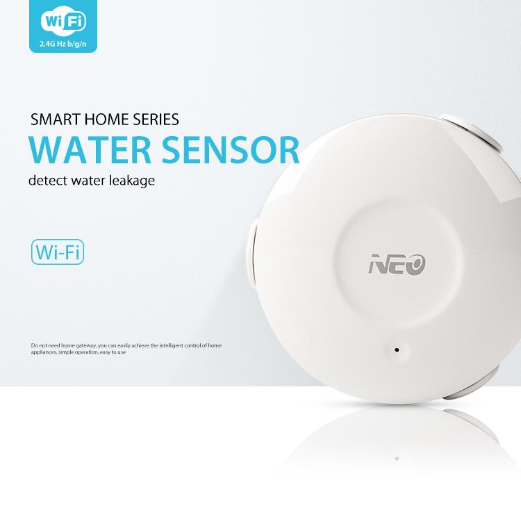 NEO WiFi smart alarm flood sensor smart home series detect water leakage