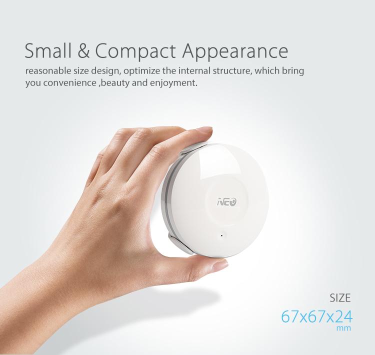NEO WiFi smart alarm flood sensor small and compact size