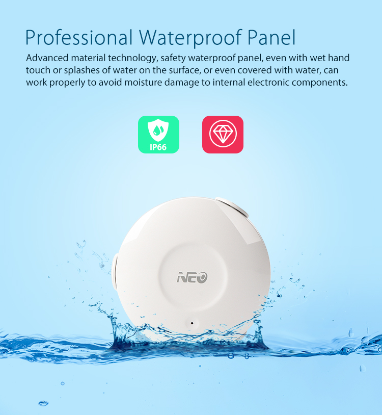 NEO WiFi smart alarm flood sensor professional waterproof panel