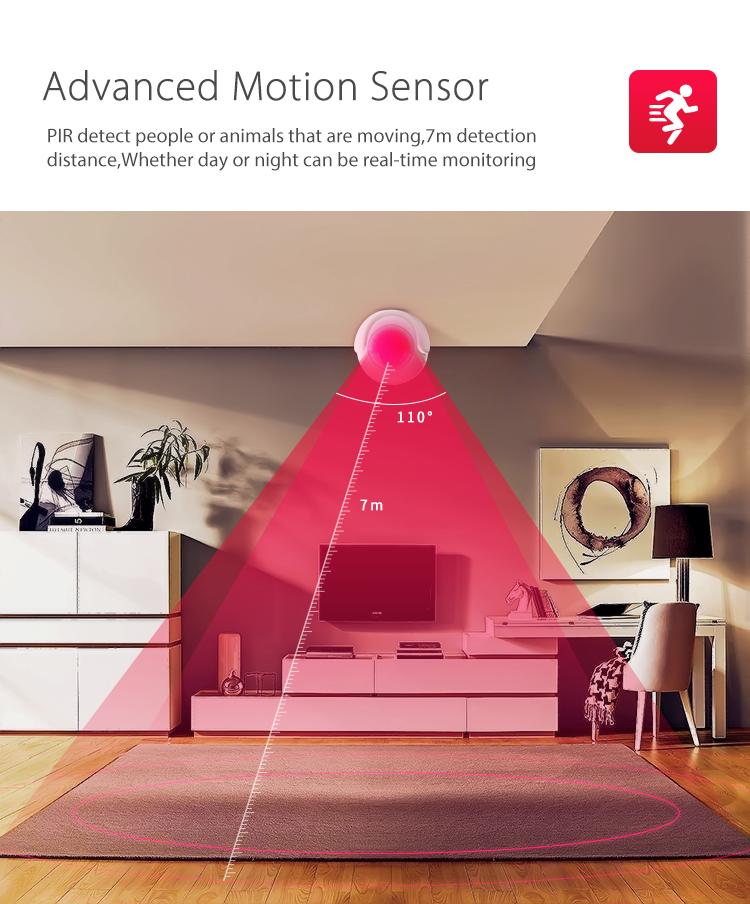 NEO WiFi smart PIR motion sensor 110 degrees detection 7m range