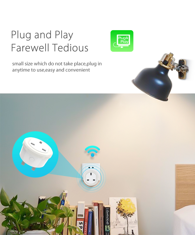 NEO WiFi smart UK power plug plug and play small size convenient