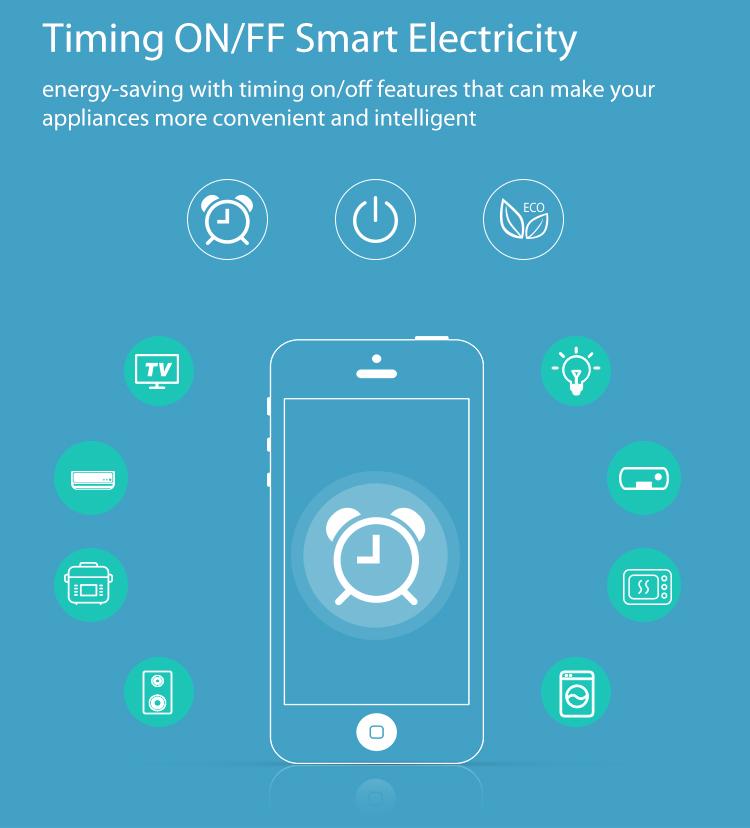 NEO WiFi smart UK power plug timing ON/OFF smart electricity ECO intelligent UK wall plug