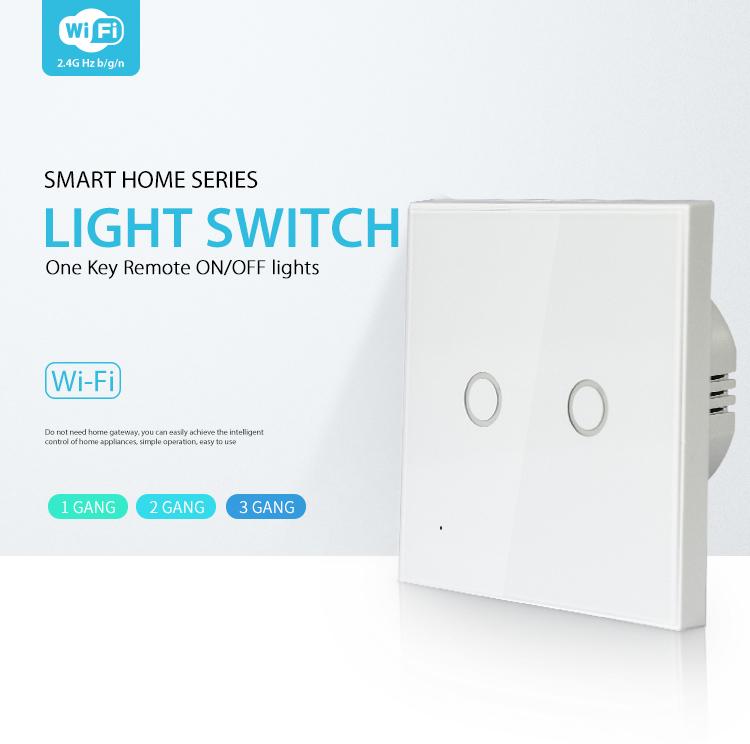 NEO WiFi smart light switch 2 gangs smart home series