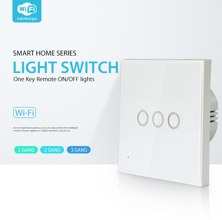 NEO WiFi smart light switch 3 gangs smart home series one key remote on/off lights