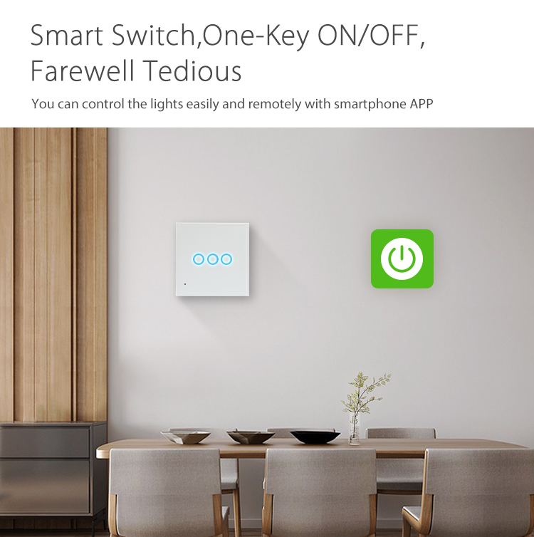 NEO WiFi smart light switch 3 gangs smart switch one key on/off farewell tedious