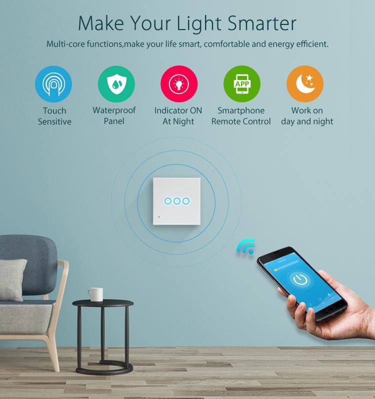 NEO WiFi smart light switch 3 gangs make your light smarter