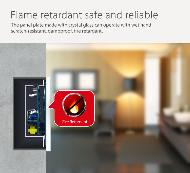 NEO WiFi smart light switch 3 gangs flame retardant safe and reliable