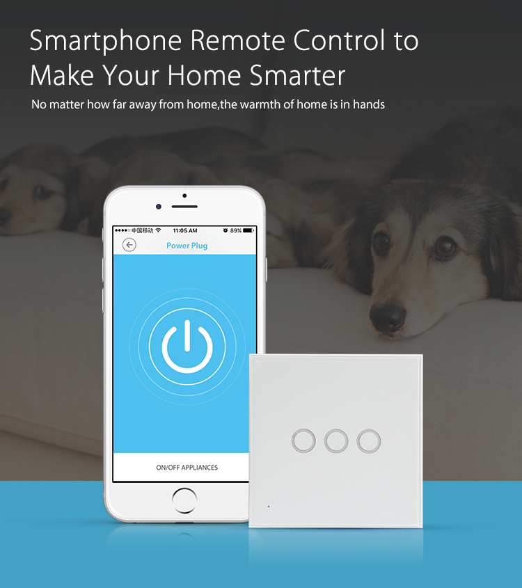 NEO WiFi smart light switch 3 gangs smartphone remote control to make your home smarter