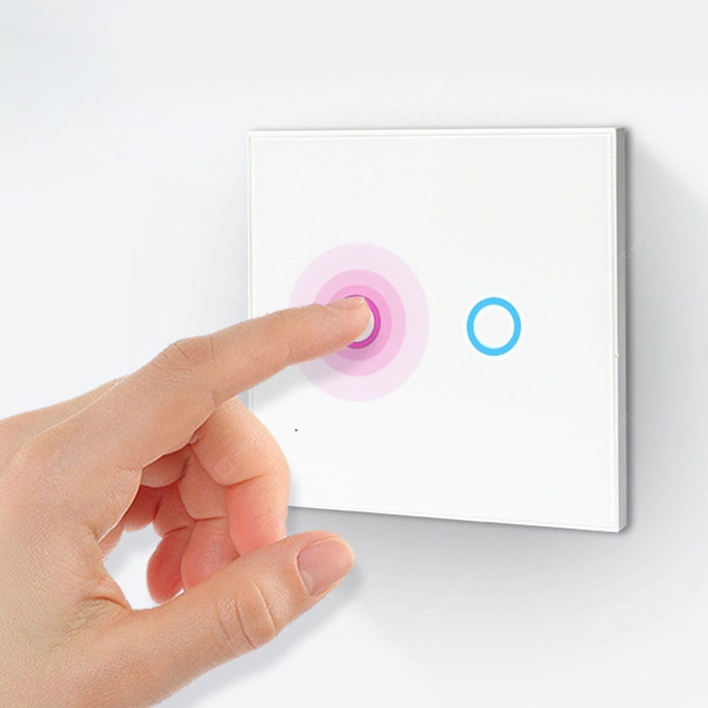 NEO WiFi smart light switch 2 gangs touch wall panel tempted glass low-consumption