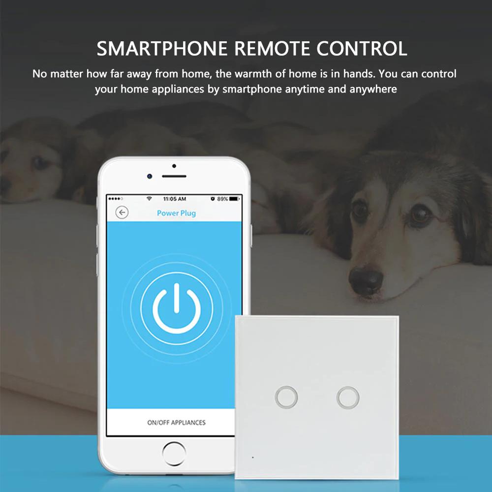NEO WiFi smart light switch 2 gangs smartphone remote control