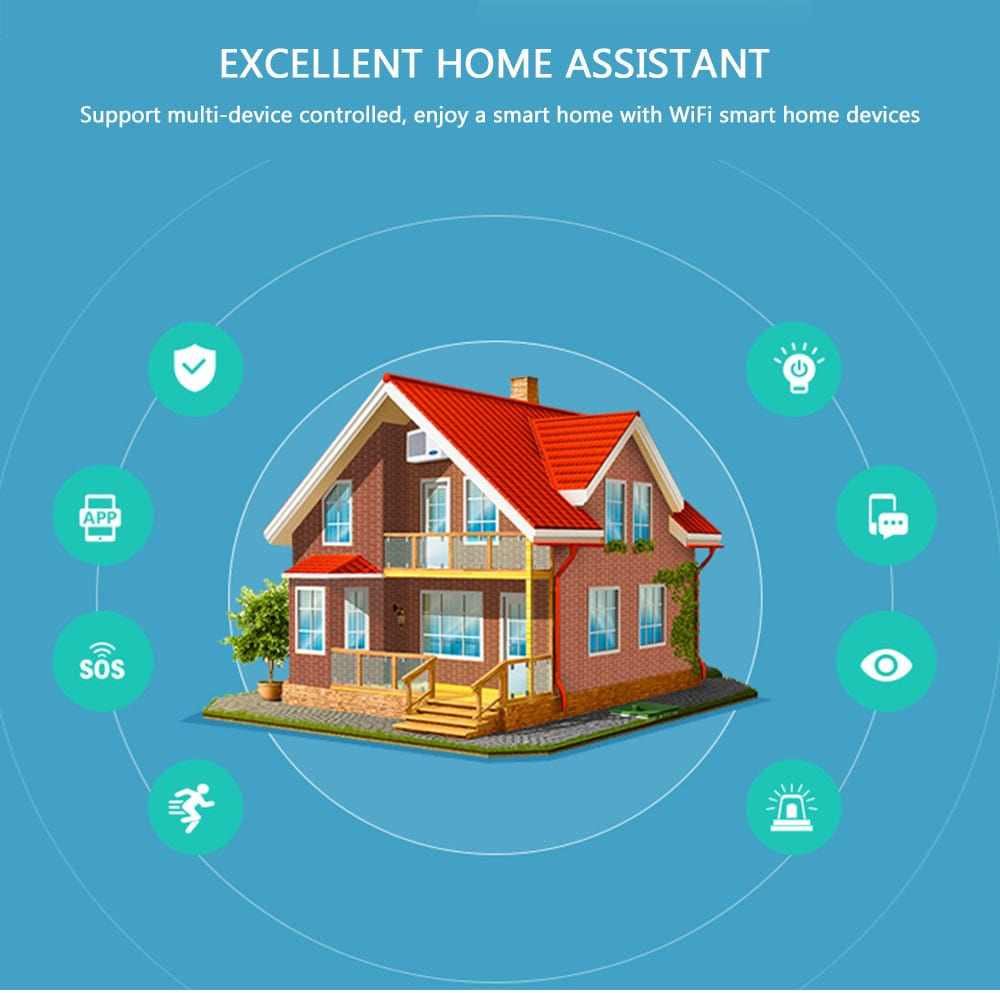 NEO WiFi smart light switch 2 gangs excellent home assistant