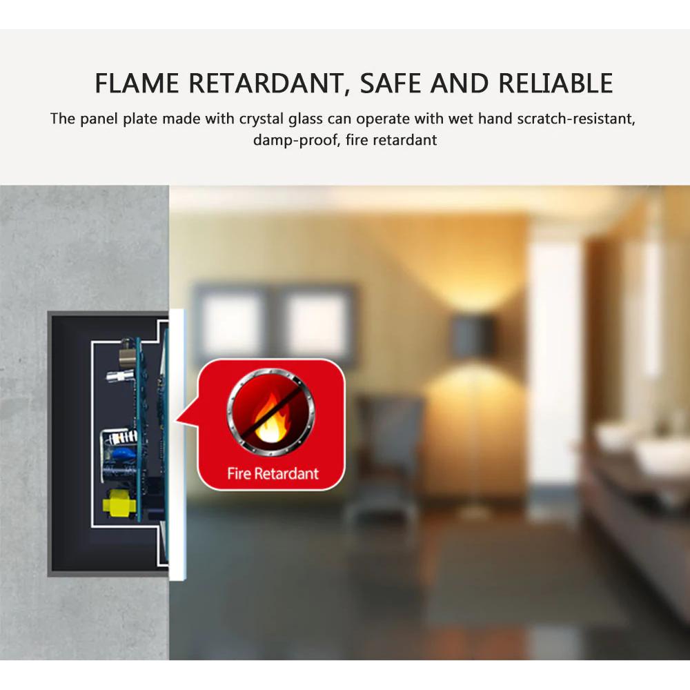 NEO WiFi smart light switch 2 gangs fire retardant