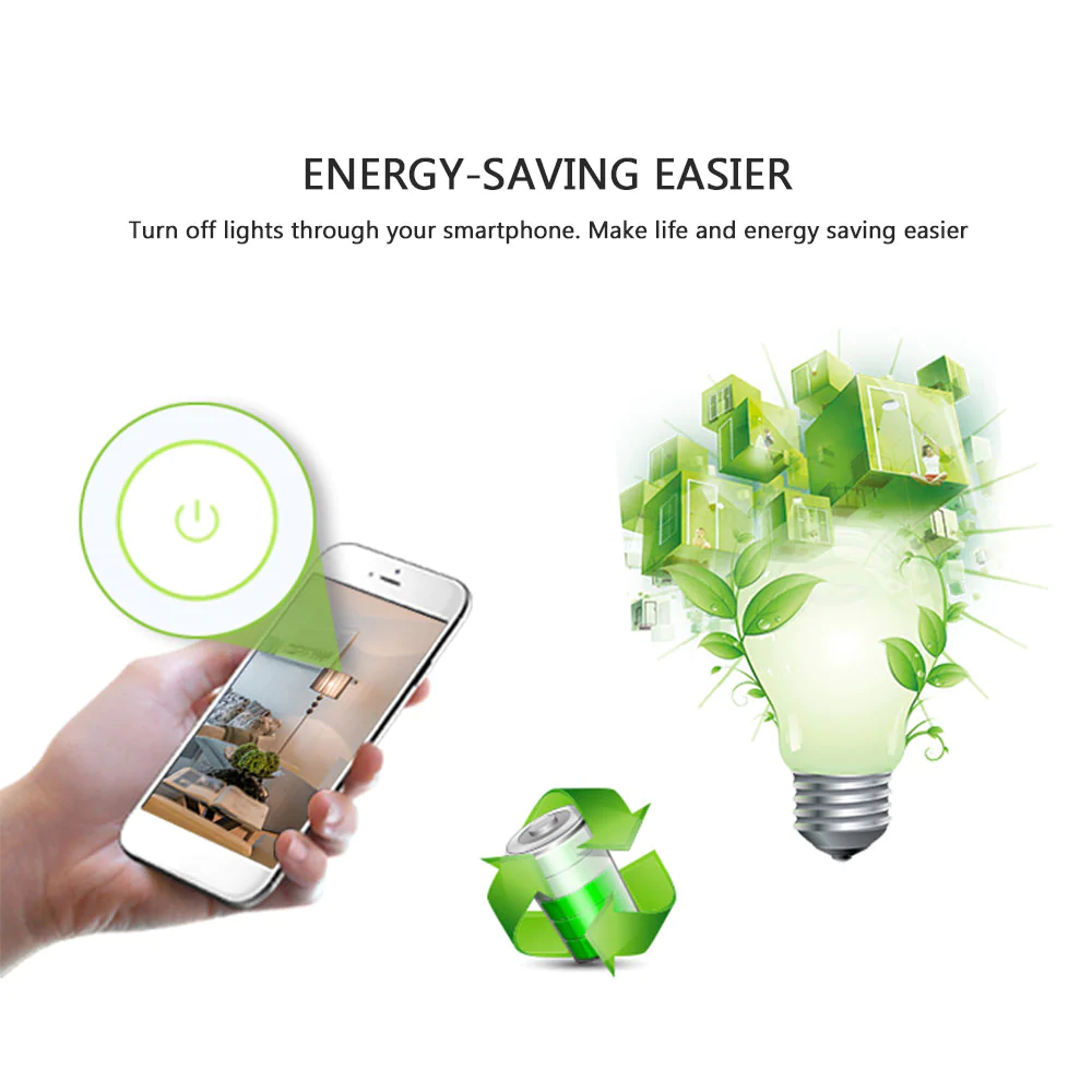 NEO WiFi smart light switch 2 gangs energy saving smartphone app
