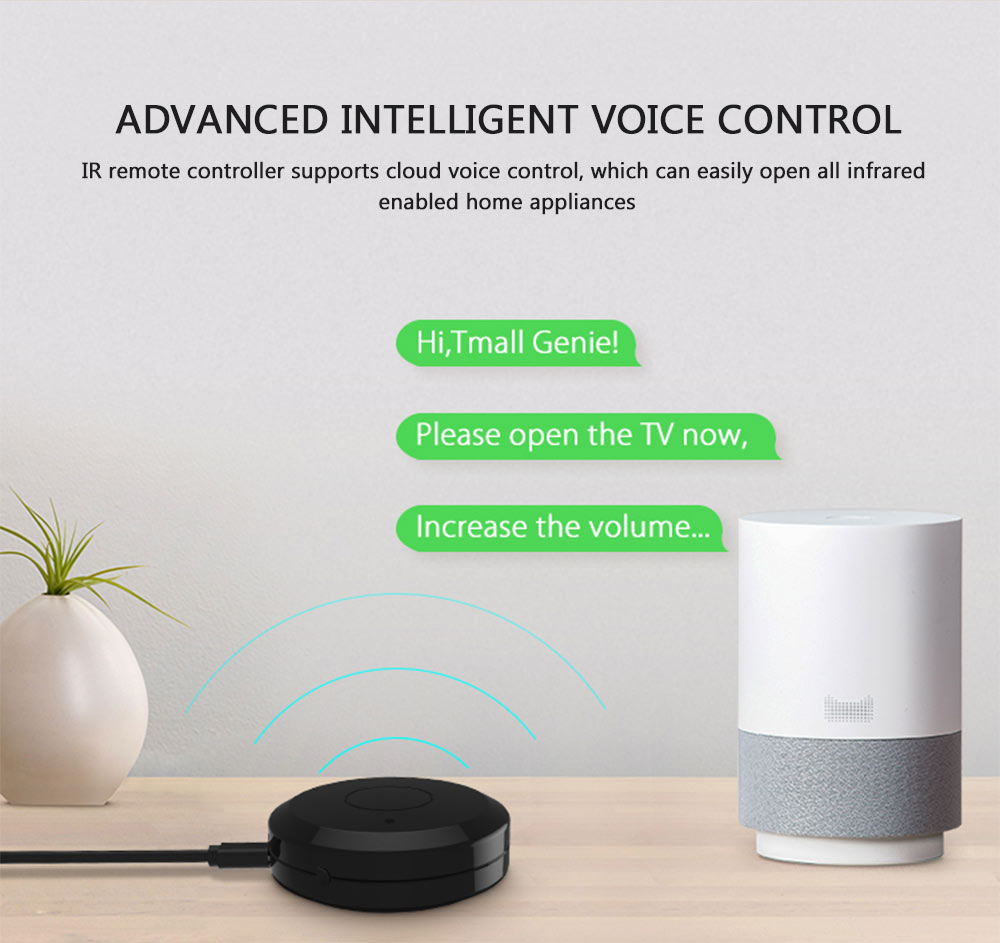 NEO Coolcam WiFi IR remote control advanced intelligent voice control Amazon Alexa