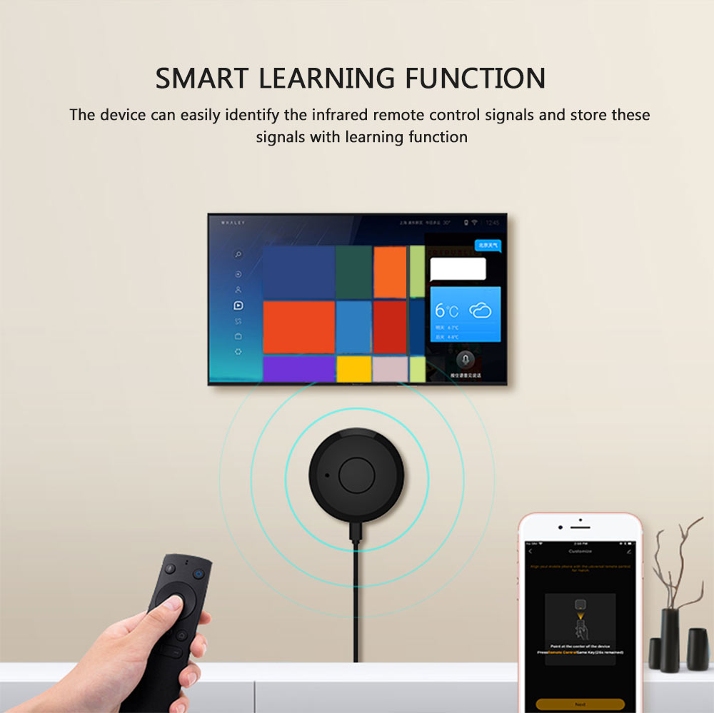 NEO Coolcam WiFi IR remote control smart learning function device identify infrared remote control signal