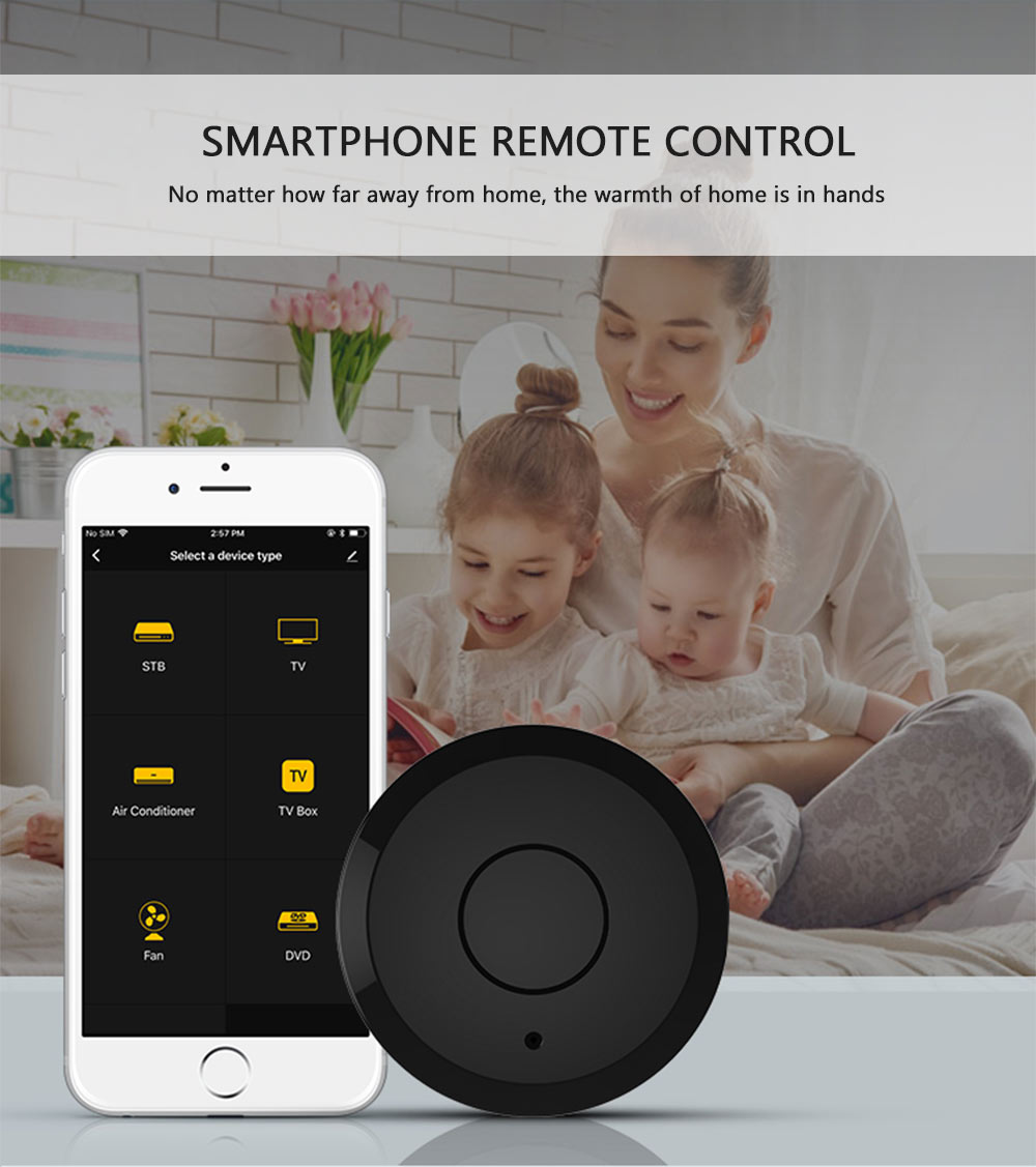 NEO Coolcam WiFi IR remote control smart remote control select device type in the mobile app