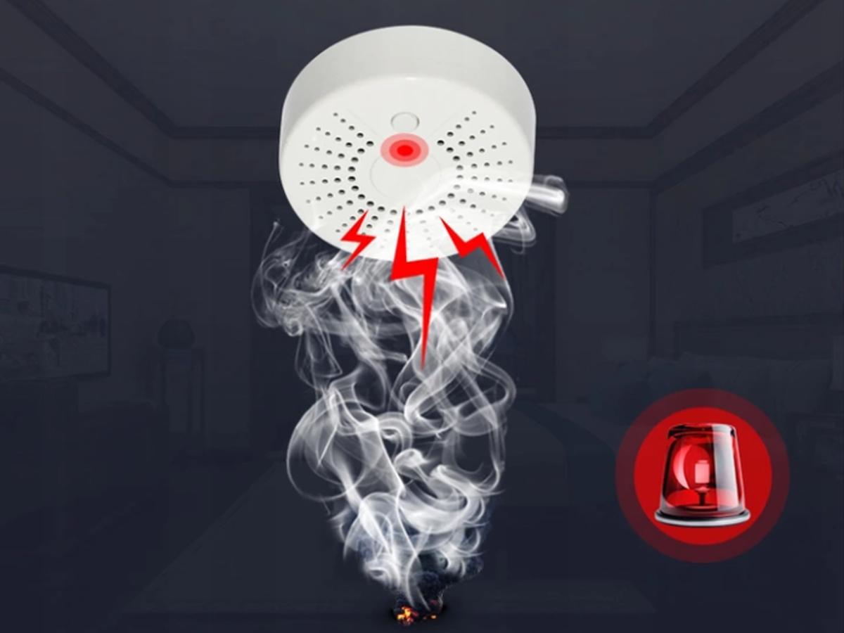 NEO WiFi smart smoke detector and fire alarm get notified about the smoke at home