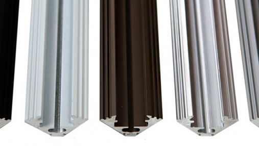 Corner aluminium profiles for LED strips