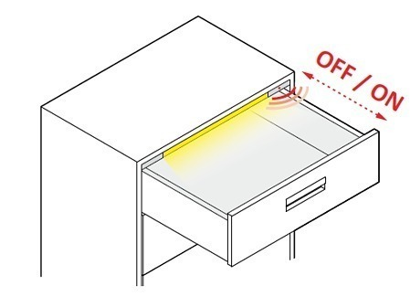 Design Light drawer LED profile POLARUS P - application