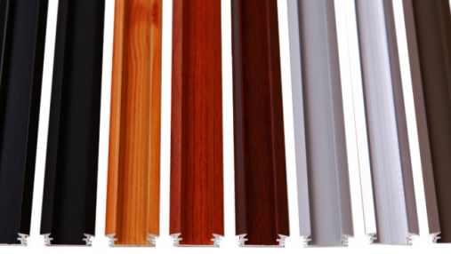 Recessed aluminium profiles for LED strips