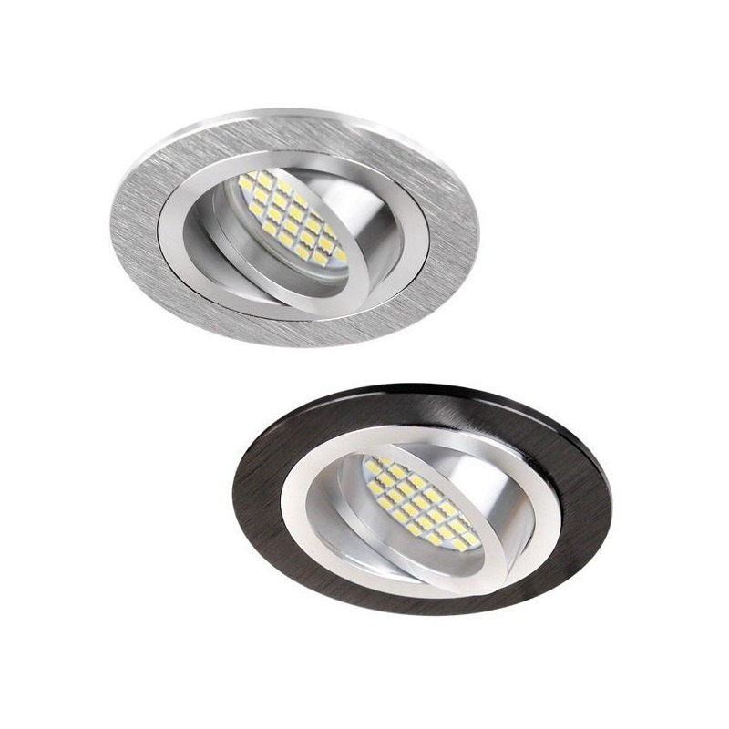 DESIGN LIGHT round adjustable downlight fixture BRAVA black