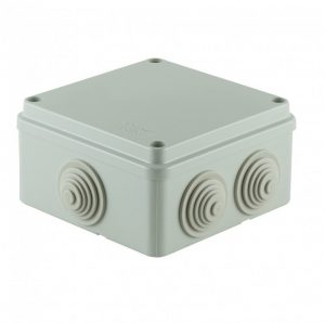 SCAME surface junction box knockouts 100x100x50 IP55