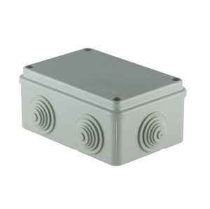 SCAME surface junction box with cable sleeves 120x80x50 IP55