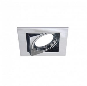 DESIGN LIGHT recessed adjustable downlight fixture EXU-12 chrome