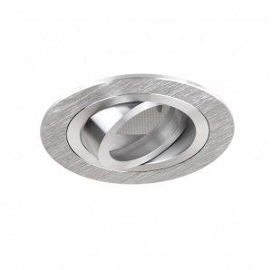 DESIGN LIGHT recessed round adjustable downlight fixture BRAVA brushed steel