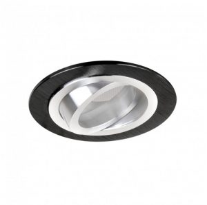 DESIGN LIGHT recessed round adjustable downlight fixture BRAVA black