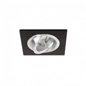 DESIGN LIGHT square adjustable downlight COSTA black
