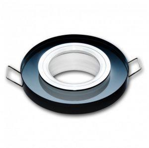 LED line® MR16 glass recessed ceiling downlight black