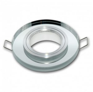 LED line® MR16 glass recessed ceiling downlight silver