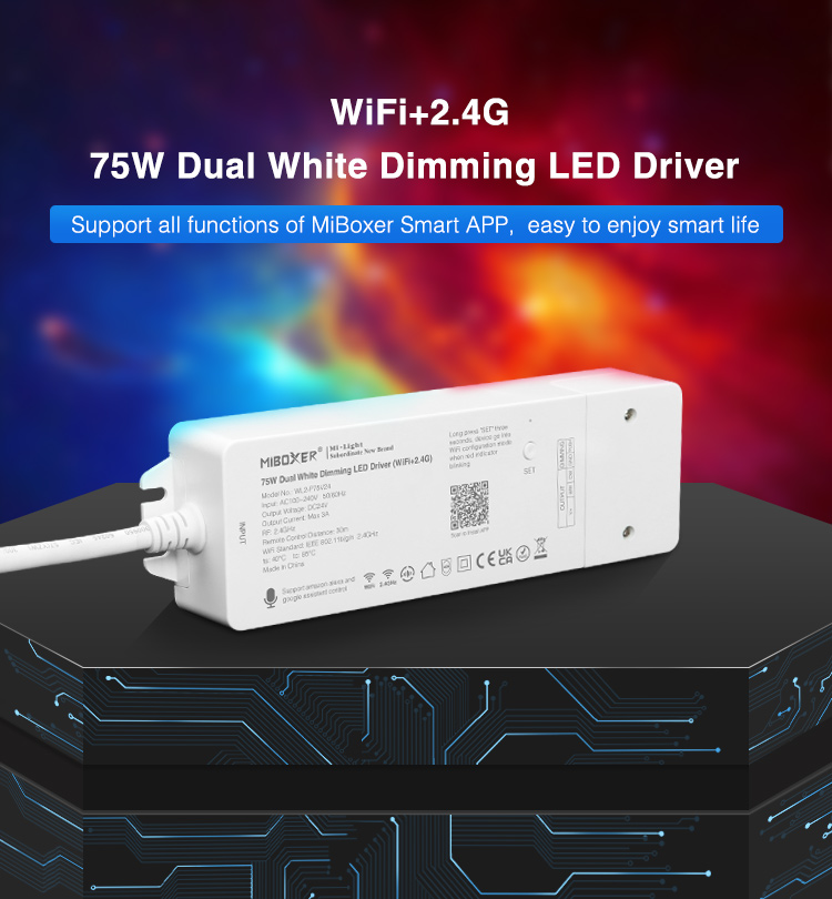 Mi-Light dual white dimming driver support all functions of MiBoxer smart app