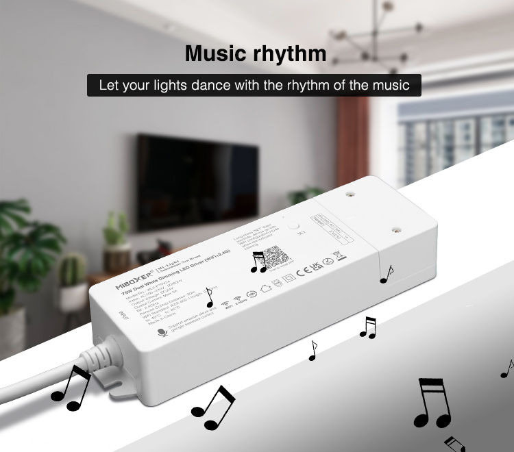 music rhythm white controller with LED driver UKCA certificated