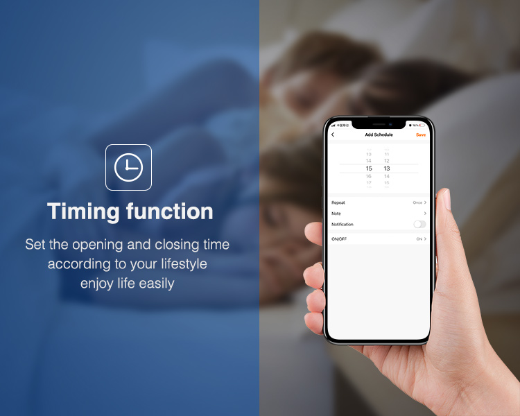 easily set timer for your home lighting