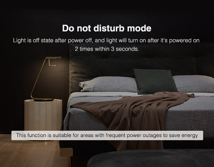 do not disturb mode does not switch ON lights after power cut