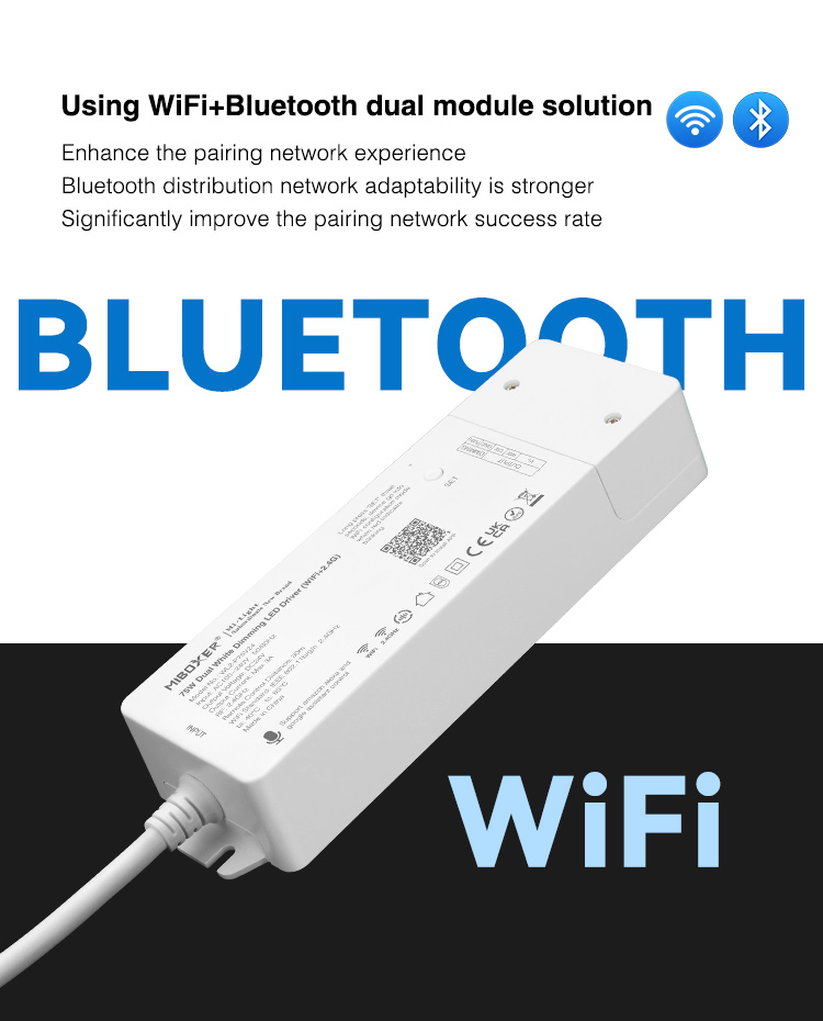 wifi and bluetooth LED strip controller for CCT LED strips