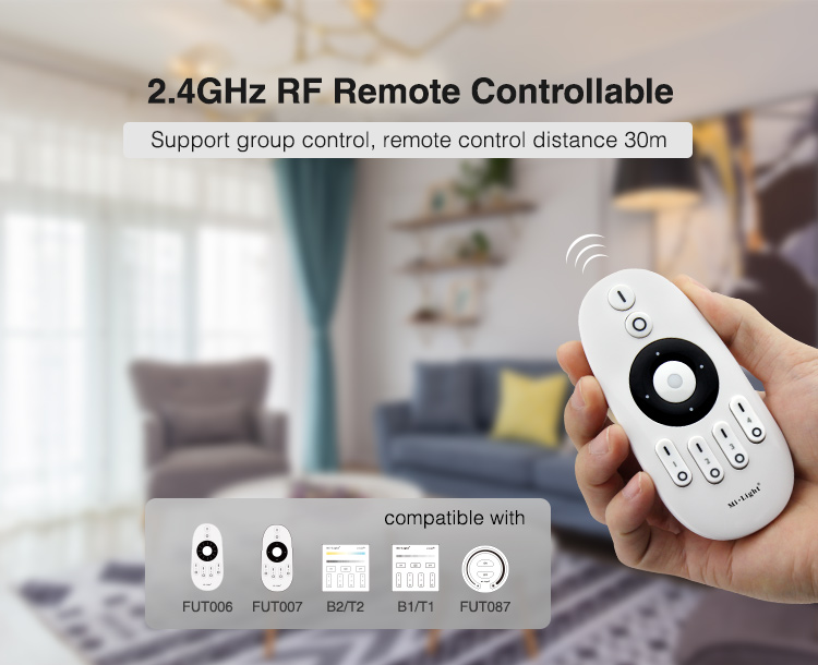white handheld and wall panel remotes compatible with WL2-P75V24
