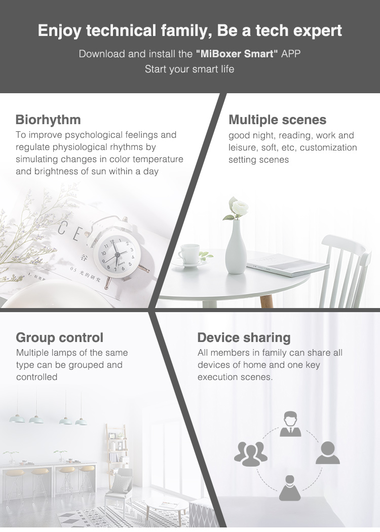 easy control and many features for smart LED lighting tapes