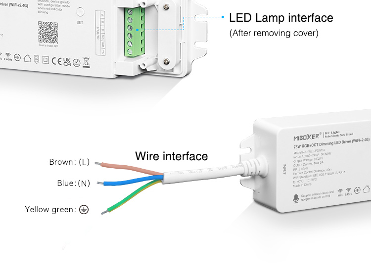 connect your LED light strips straight to the mains UK stock